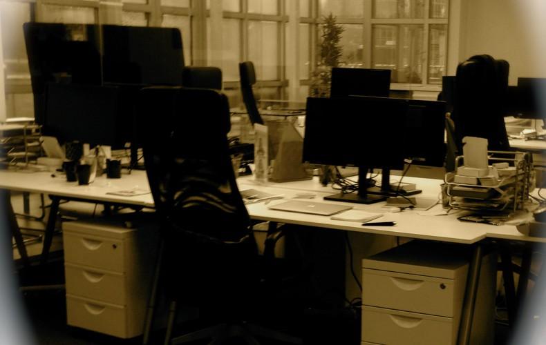 Kontorsbuller och naturljud i kontorslandskap